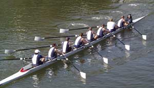 Sweep Rowing in an eight